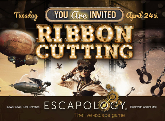Escapology Grand Opening Poster