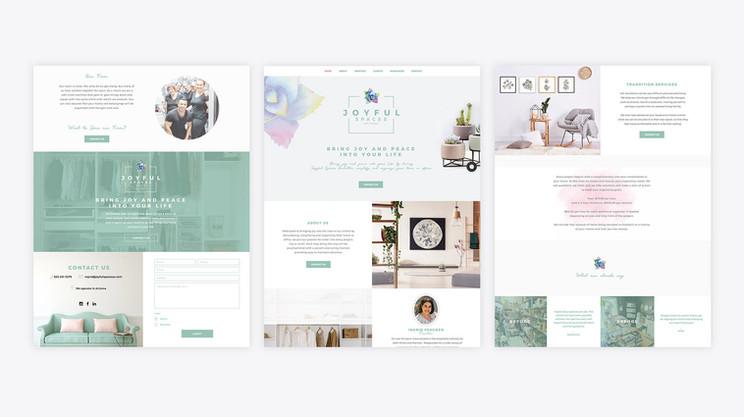 Joyful Spaces AZ website design PSD mockupa