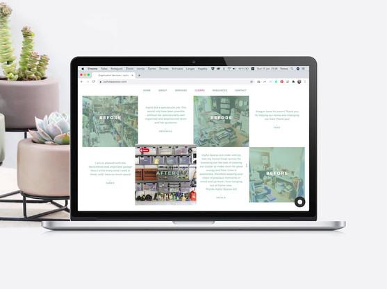 Joyful Spaces AZ website design in live video