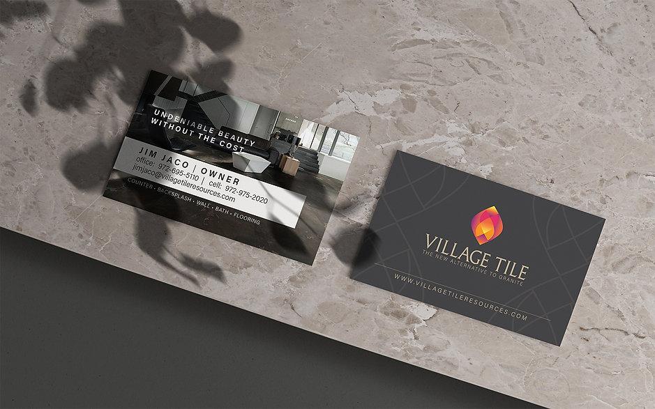 Village Tile business card design