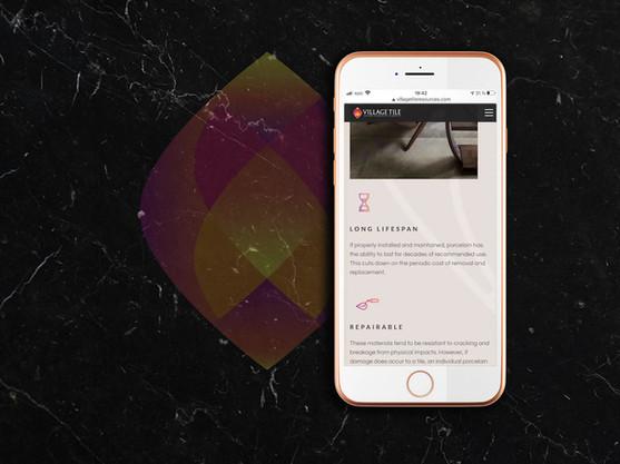 Village Tile mobile responsive web design mockup