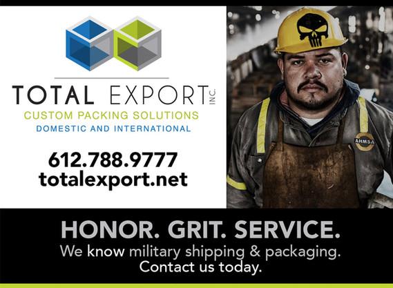 Total Export postcard design
