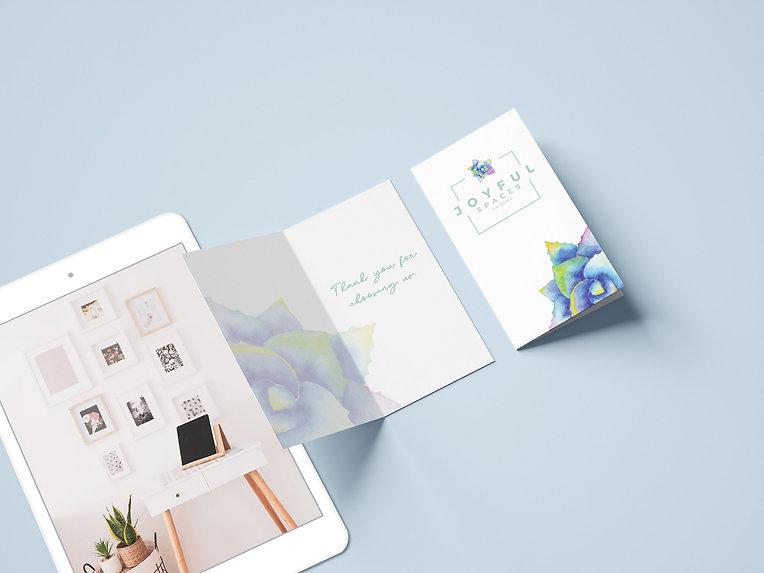 Joyful Spaces AZ thank you card design