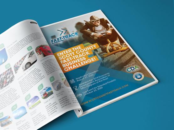Scott County Fast Track magazine ad design
