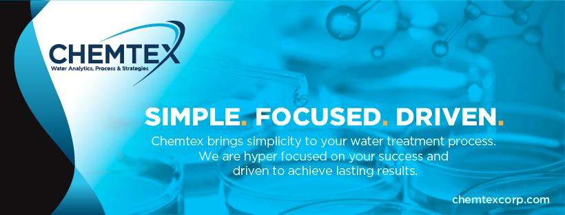 Chemtex brand logo designed for  social media banner ad