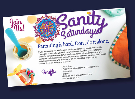 Sanity Saturdays advertisement poster design
