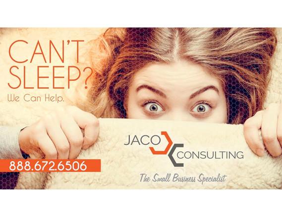 JACO Consulting postcard social media banner design