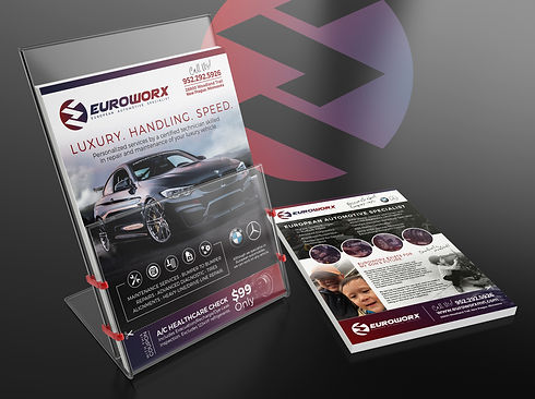 Euroworx magazine brochure design mockup