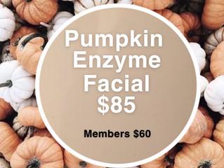 Pumpkin Enzyme Facial!