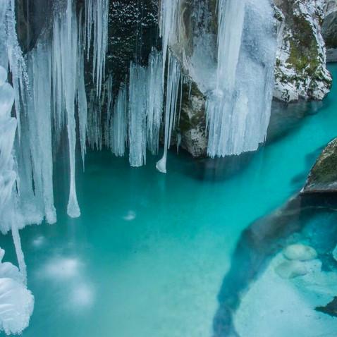 Frozen Soca river