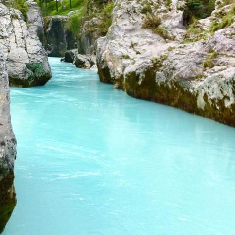 Emerald Blue water of soca