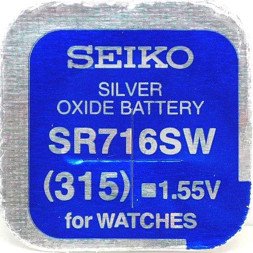 1 x SR716SW 315 Seiko Micro Pila de Reloj Óxido de Plata