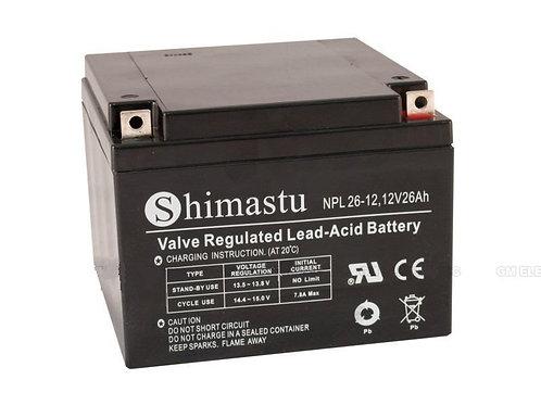 Shimastu batería plomo NPC 12V 26Amh
