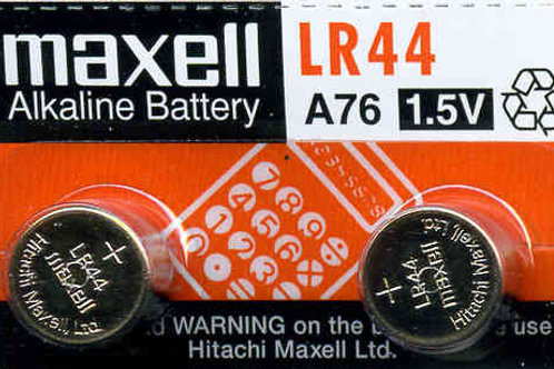 2 x LR44 Maxell Pila Alcalina 1,5V