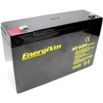 6V 12Amh EnergiVM batería plomo NPC