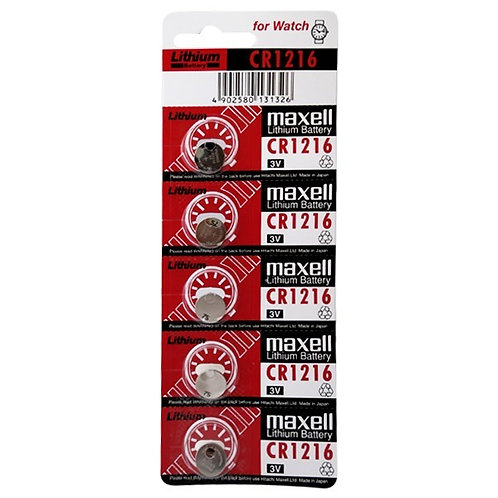 5 x CR1216 Maxell 3V Litio