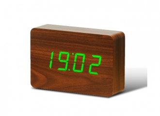 GK15G8 - Brick Click Clock - Nuez