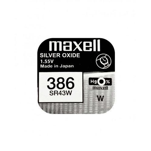 1 x SR43SW 386 Maxell Micro Pila de Reloj Óxido de Plata
