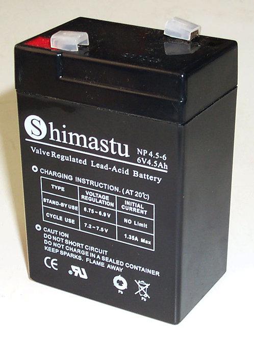 6V 4,5Ah Shimastu batería plomo NP