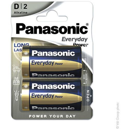 LR20 D 1.5V Panasonic Silver Alcalina bilister 2 unidades