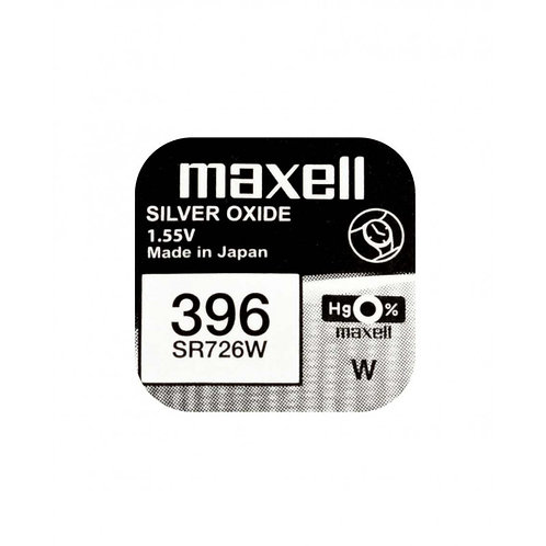 1 x SR726W 396 Maxell Micro Pila de Reloj Óxido de Plata