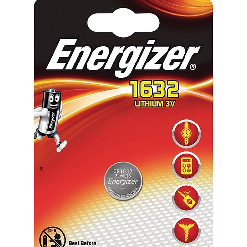 1 x CR1632 Energizer 3V Litio