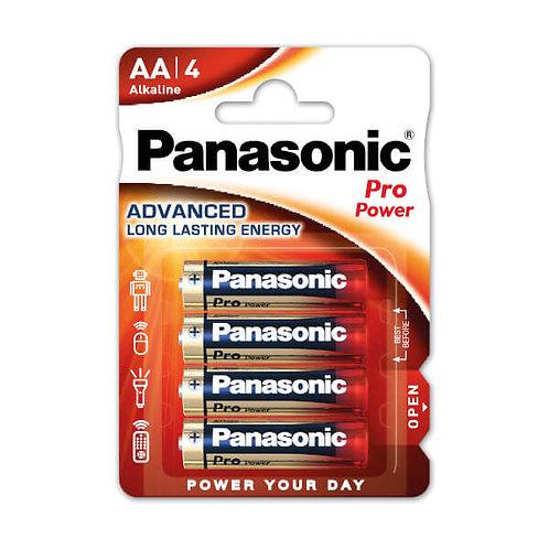LR6 AA Panasonic Pro Power Oro Alcalina blister 4 unidades