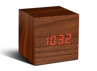 GK08G8 - Cube Click Clock Nuez LED Rojo