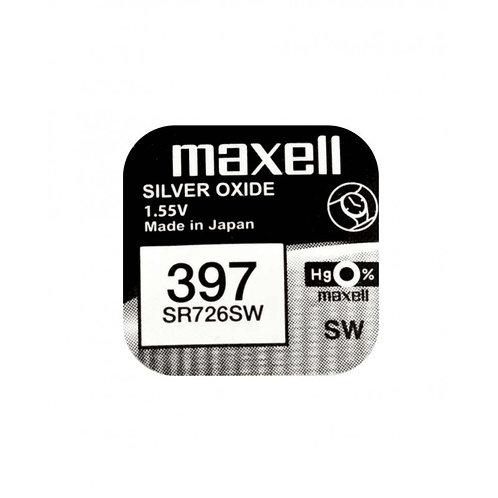 1 x SR726SW 397 Maxell Micro Pila de Reloj Óxido de Plata