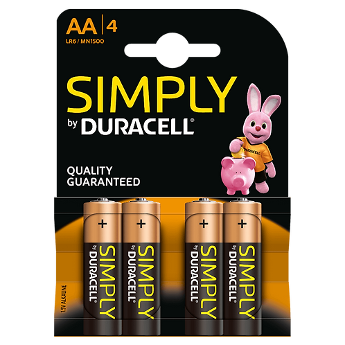 LR6 AA Duracell Simply Alcalina blister 4 unidades