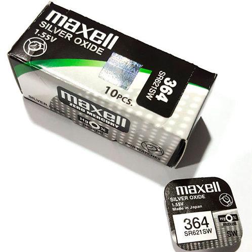 100 x SR621SW 364 Maxell Micro Pila de Reloj Óxido de Plata