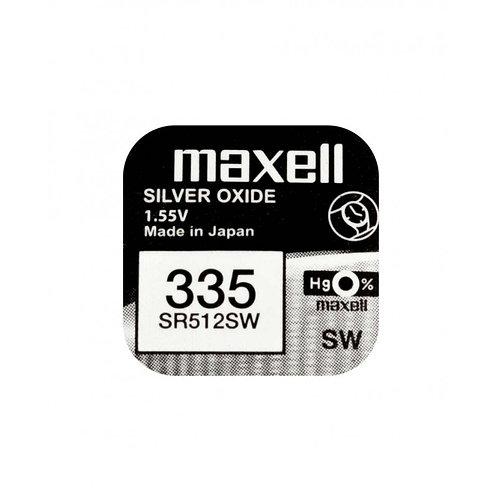 1 x SR512SW 335 Maxell Micro Pila de Reloj Óxido de Plata