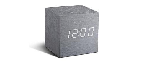GK08W6 - Cube Click Clock - Aluminio