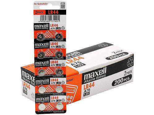 200 x LR44 Maxell Pila Alcalina 1,5V