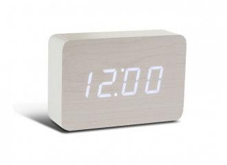 GK15W13 - Brick Click Clock - Blanco