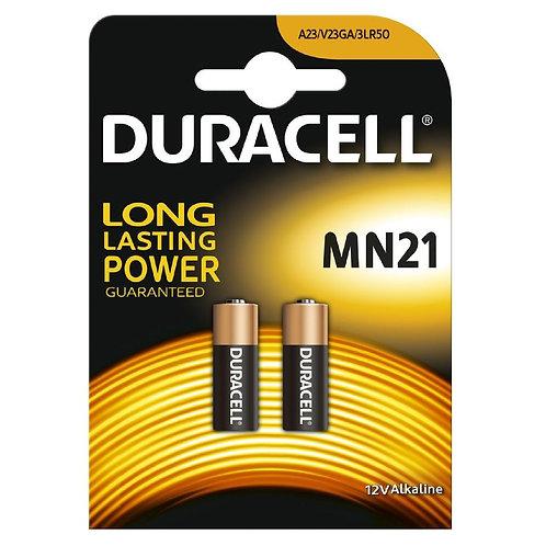 10 x 23a Duracell 12V A23 alcalina