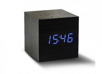 GK08B10 - Cube Click Clock Negro LED Azul