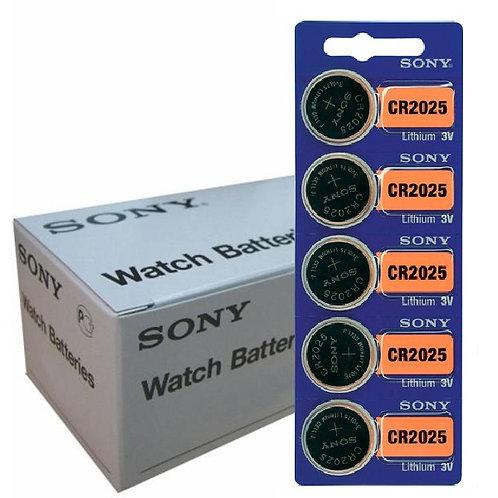 100 x 2025 Sony/ Murata 3V Litio