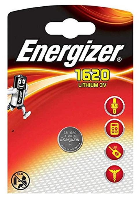 10 x CR1620 Energizer 3V Litio