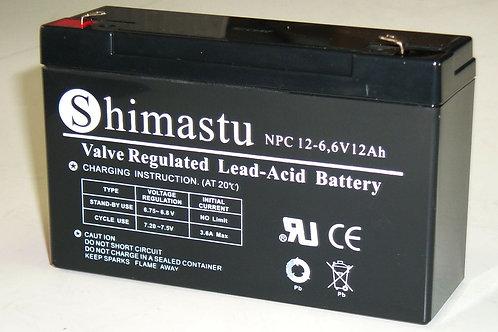 6V 12Amh Shimastu batería plomo NPC