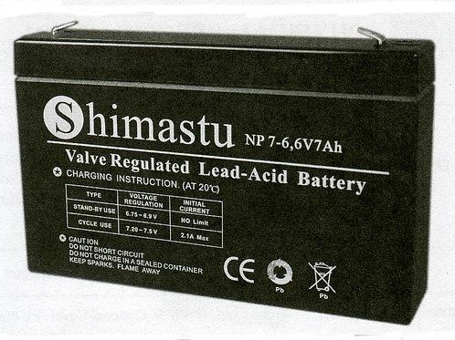 6V 7Ah Shimastu batería plomo NP