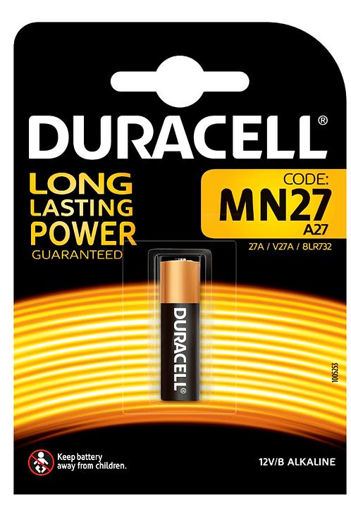 10 x 27a MN27 Duracell 12V Alcalina