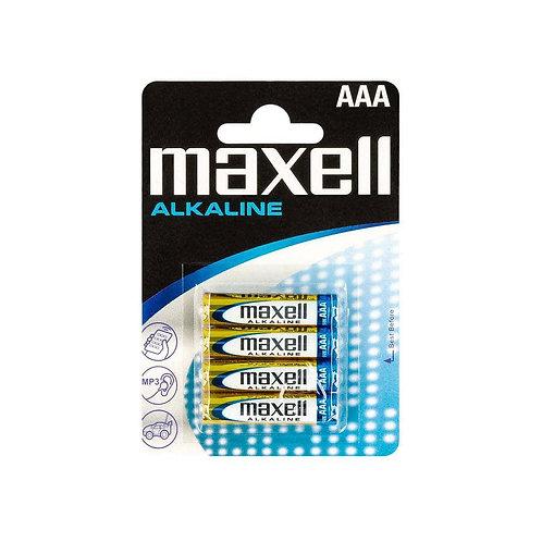 Caja LR3 AAA Maxell Alcalina 12 blisters 4 unidades