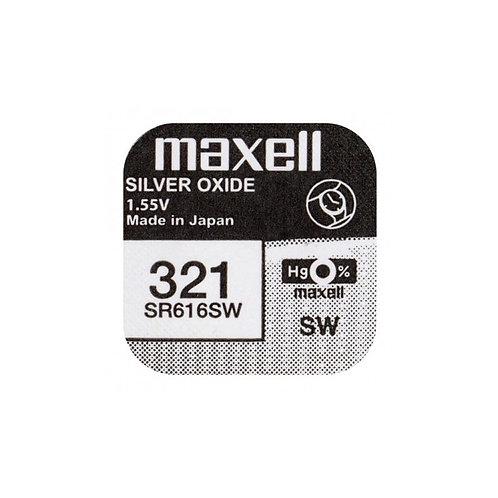 1 x SR616SW 321 Maxell Micro Pila de Reloj Óxido de Plata