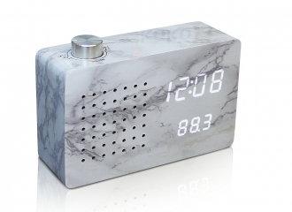 GK16W5 - Radio Click Clock - Mármol