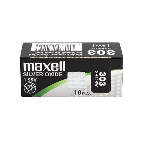10 x SR44SW 303 Maxell Micro Pila de Reloj Óxido de Plata