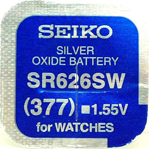 10 x SR626SW 377 Seiko Micro Pila de Reloj Óxido de Plata
