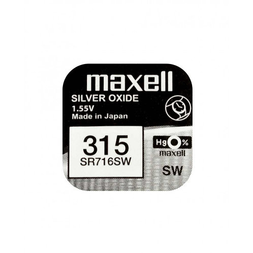 1 x SR716SW 315 Maxell Micro Pila de Reloj Óxido de Plata