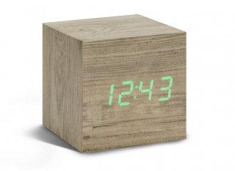 GK08G12 - Cube Click Clock - Ceniza