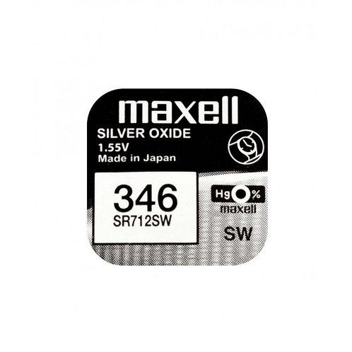 1 x SR712SW 346 Maxell Micro Pila de Reloj Óxido de Plata